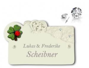 Keramikschilder WITH SWAROVSKI® ELEMENTS und Gravur